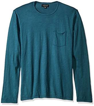 Velvet by Graham & Spencer Men's Simeon Raw Edge Long Sleeve Tee