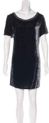 CNC Costume National Velvet Shift Dress