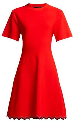 Proenza Schouler Zigzag Hem Stretch Knit Dress - Womens - Red