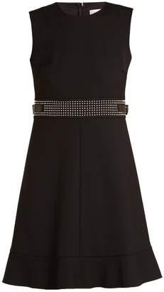 RED Valentino Stud-embellished sleeveless cady dress