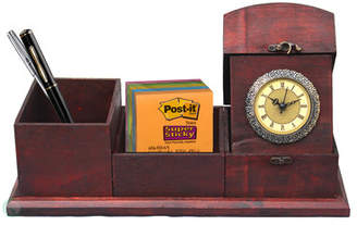 Quickway Imports Antique Wood Desk Organizer