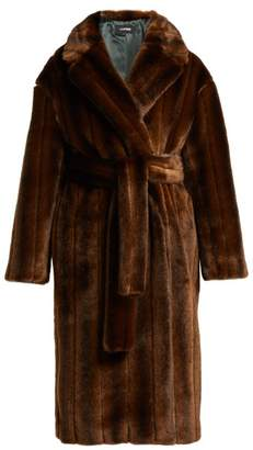 Kwaidan Editions - Belted Faux Fur Coat - Womens - Dark Brown