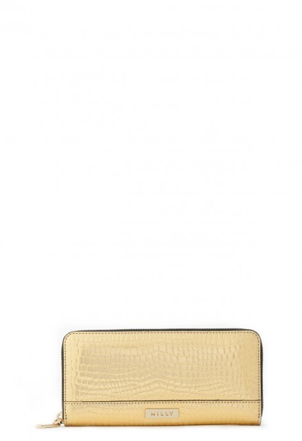Milly Gold Croc Wallet