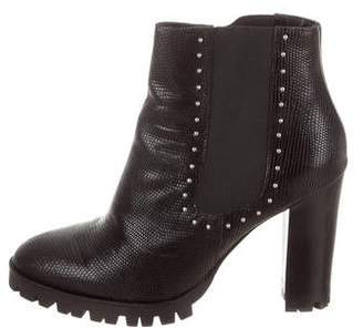 The Kooples Embossed Leather Ankle Boots
