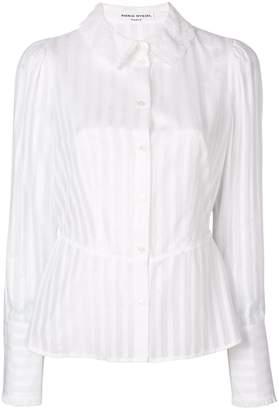 Sonia Rykiel semi-sheer striped blouse