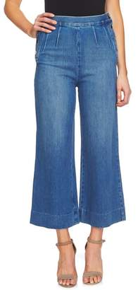 CeCe Wide Leg Crop Denim Pants