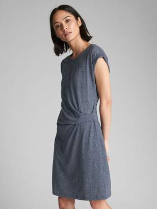 Gap Short Sleeve Dress with Gathered Waist