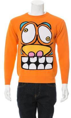 Jeremy Scott Intarsia Crew Neck Sweater