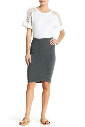 14th & Union Ruched Front Midi Skirt (Regular & Petite)