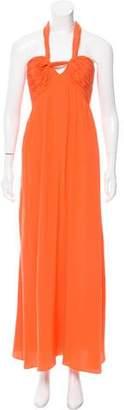 Oscar de la Renta Silk Halter Dress