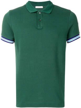 Moncler striped cuff polo shirt