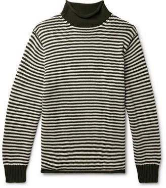 J.Crew Striped Cotton Rollneck Sweater