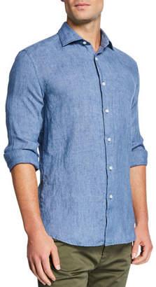 Mediterranea Men's Linen Sport Shirt