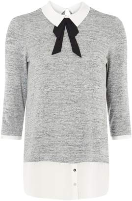 Dorothy Perkins Womens Grey Pussybow 2