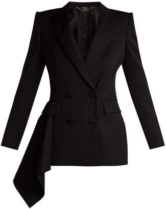 Alexander McQueen Double-breasted wool grain de poudre jacket