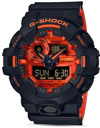 G-Shock Front Button Black & Red Watch, 52.5mm