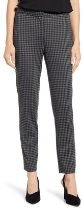 Vince Camuto Houndstooth Check Ankle Skinny Ponte Pants