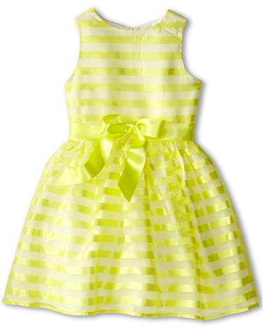 Us Angels Stripe Organza Tank w/ Full Skirt (Big Kids)
