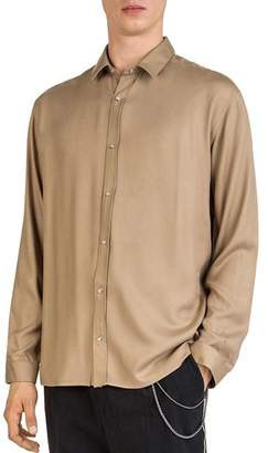 The Kooples Fluid Gold Button-Down Shirt