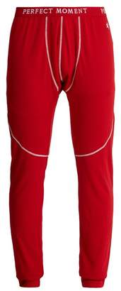 Perfect Moment - Tapered Leg Knit Base Layer Trousers - Mens - Red