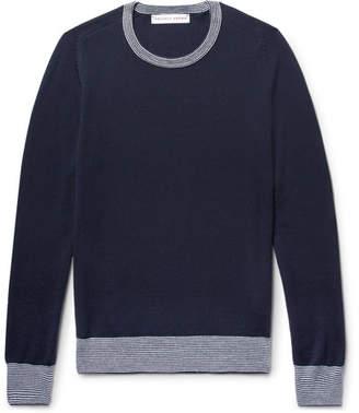 Orlebar Brown Lucas Stripe-Trimmed Merino Wool Sweater