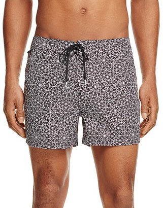 SUNDEK Geo Print Low Rise Board Shorts $109 thestylecure.com