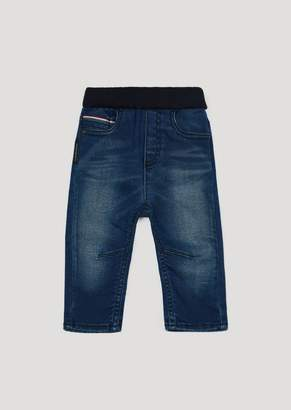 Emporio Armani Stone Washed Jeans With Ribbed Elasticated Waistband