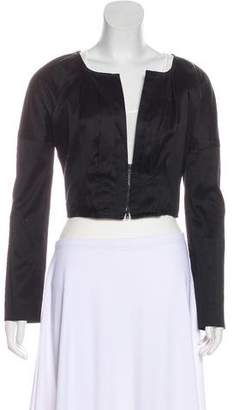 Gucci Cropped Sateen Jacket