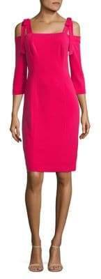 Eliza J Self-Tie Cold Shoulder Sheath Dress