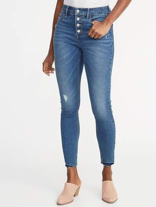 Old Navy High-Rise Secret-Slim Pockets Button-Fly Rockstar Ankle Jeans for Women