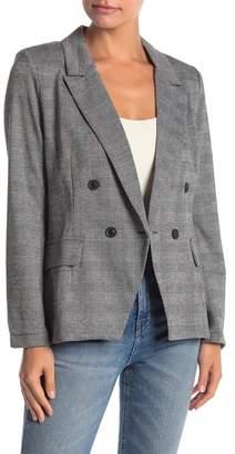 June & Hudson Knit Notched Collar Blazer