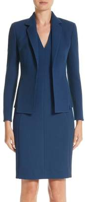 Akris Double Face Wool Crepe Slit Jacket