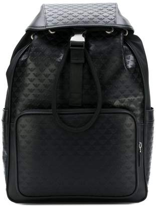 Emporio Armani all over logo backpack