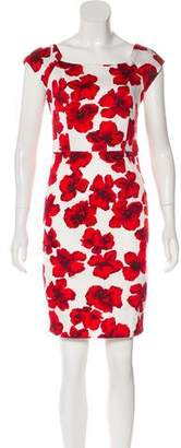 Milly Floral Print Sheath Dress