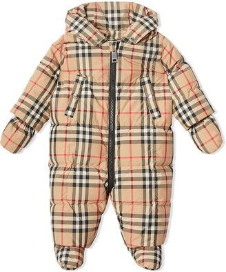 Burberry Vintage Check Down-filled Puffer Suit