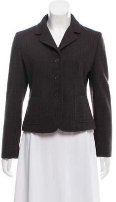 Miu Miu Wool Patterned Blazer