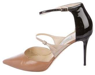 Jimmy Choo Leather Ankle-Strap Pumps