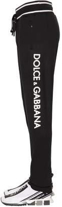 Dolce & Gabbana 3d Logo Cotton Jersey Track Pants