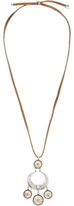 Lucky Brand Tribal Leather Pendant Necklace Necklace