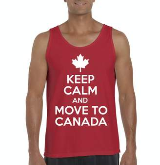 Möve Ugo Keep Calm and to Canada Tour Canadian Flag Vancouver Map Gift Men's Tank Top