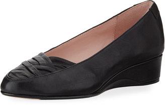 Taryn Rose Faulk Leather Comfort Flat, Black $139 thestylecure.com