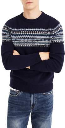 J.Crew Fair Isle Crewneck Lambswool Sweater