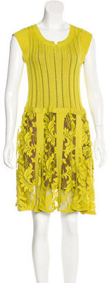 Nanette Lepore Lace-Paneled Drop Waist Dress $95 thestylecure.com