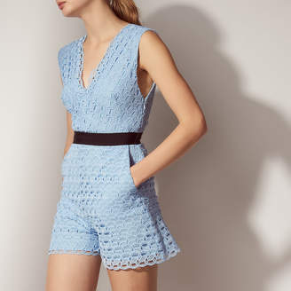 Sandro All-over lace playsuit