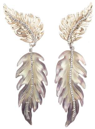 Alexis Bittar Limited Edition Dangling Feather Clip Earring
