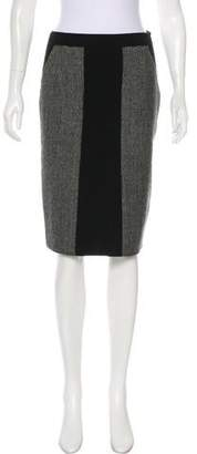 TSE Wool Colorblock Skirt