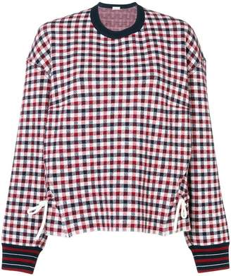 MRZ check pattern sweatshirt