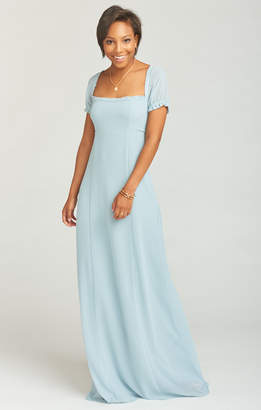 Show Me Your Mumu Brittany Maxi Dress ~ Steel Blue Chiffon