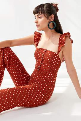 Lucca Couture Madelynn Polka Dot Ruffle Jumpsuit