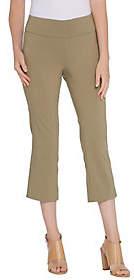 Martha Stewart Regular Stretch Twill Crop Pantsw/Back Slits